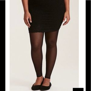 Torrid Lace skirted mesh leggings